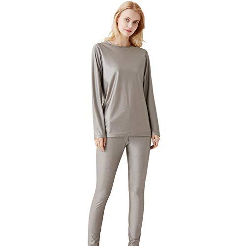 YRX Vêtements de maternité pour femme – Sous-vêtements de protection contre les rayons – 100% fibre argentée – Ensemble de sous-vêtements longs – Protection EMF – XXXL