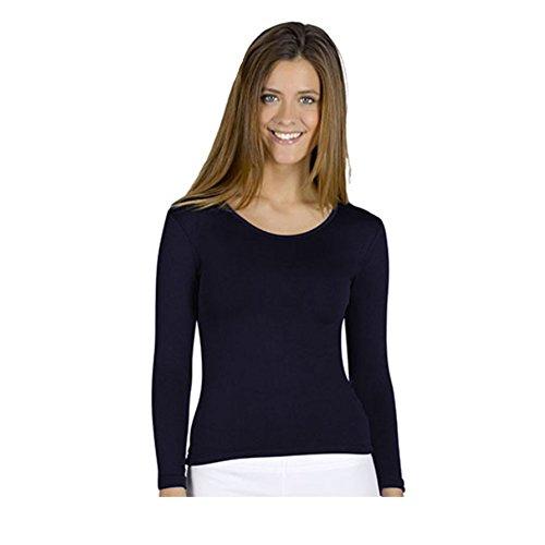 YSABEL Mora T-shirt thermique pour femme – Bleu – XXL