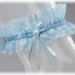 BrautChic Jarretière de mariage – Jarretière de mariée CLASSIC – Top élastique – Accessoires pour la mariée – BLEU