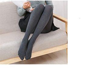 Automne Hiver Bas Chauds Bas pour Femmes Sexy Coton Collants élastiques Collants de Taille élastique (Color : Dark Grey, Size : One Size)