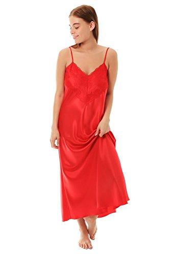 Chemise de nuit pour femme – Rouge – XOS 48/50 112 cm