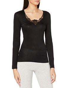 Damart Tee Shirt Manches Longues Thermolactyl SOIE-60726 sous-vêtement, Noir, M Femme