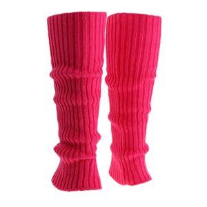 freneci Femmes Dames Hiver Chaud Jambières Câble Côtelé Tricoté Crochet Chaussettes Longues – Rose, comme décrit