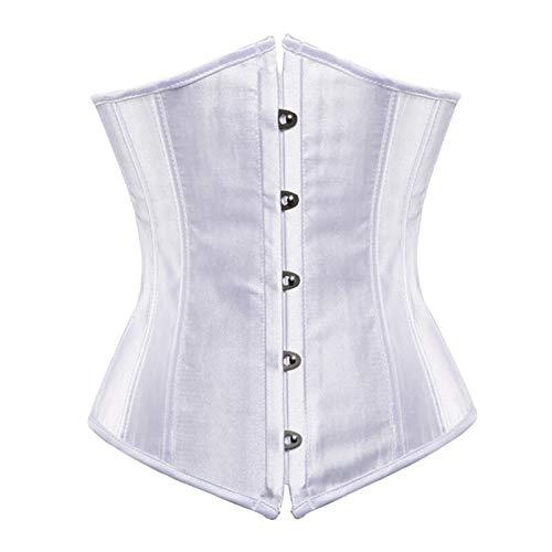 GeWu888 Aux femmes Corset sous-bûcher plus taille sexy bodyshaper costumes bustiers corsets dames burlesque corselet rouge noir bleu bleu rose brun Pour les femmes et les filles