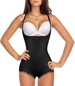 Gotoly Corset amincissant amincissant pour femme – Sous-vêtement amincissant – Ouvert – Tour de poitrine – Sans bretelles – Noir – XXL