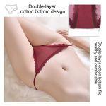 Insour Lot de 6 culottes en dentelle sans coutures pour femme – Multicolore – L