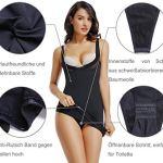 Joyshaper T-shirt jupon sans couture avec sangles de ceinture pour femme Petit Noir