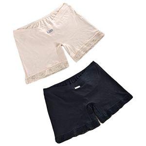 Qiraoxy Pantalon de Sécurité Taille Basse de Maternité Short de Maternité Élastique Caleçons Leggings