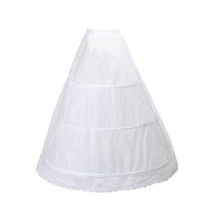 TUKA Design Jupon de Mariée en Crinoline Jupon, 3 Cerceau, Taille M : Adéquat pour Taille 34-40, Blanc, TKB0005 White