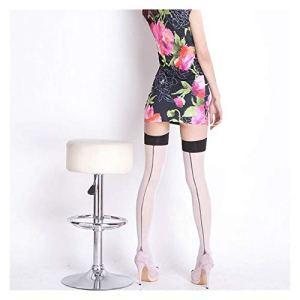 YUNGYE Femmes Vintage Bas Back Line Couture Talon Top Top Top Cuisse High Bas (Color : White, Size : Free Size)