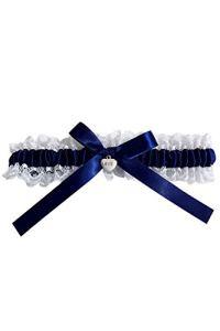 Hocaies Jarretière de Mariage Élastique Jarretière de Mariée Avec Nœud et Ruban Bleus Élégante Accessoires Pour la mariée Robe de Mariée.