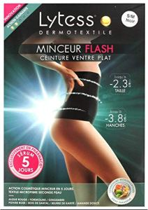 Lytess Dermotextile Minceur Flash Ceinture Ventre Plat Noir – S/M