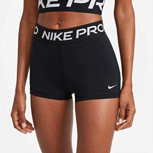 Nike Pro Short Femme, Noir Blanc, XS