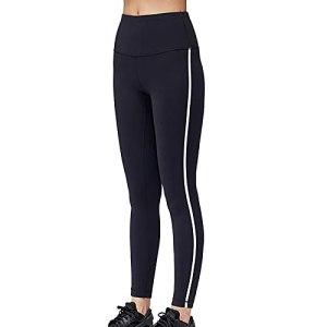 OYUEGE Leggings sans couture pour femme – Taille haute – Contrôle du ventre – Pantalon de yoga amincissant – Noir – S