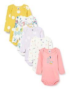 Petit Bateau 5620400 Chemise, Blanc/Vert/Multico + Jaune/Blanc + Blanc+Vert/Multico + Violet/Blanc + Rose, 3M Womens