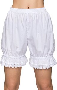 Stockerpoint – Bermuda Taille Haute – Femme Blanc Blanc – Blanc – Small