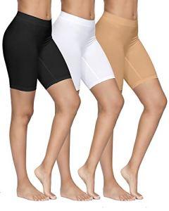 YADIFEN Femme Slip Panties Culotte Taille Haute sous-vêtements Short de Yoga Longue Legging Cyclisme Doux Anti-frottement Boyshort Culotte 3 Paquet Taille XL