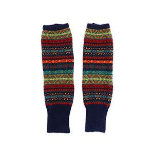 Abaodam 1 paire de chaussettes hautes style bohème en tricot pour femme