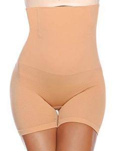 Abollria Gaine Amincissante Femme Invisible Body Gainant Bustiers Minceur Lingerie Sculptante Body Shaper Ventre Plat Combinaisons Sculptantes,Beige-filet,M/Poids:60-70kg, Tour de taille: 74-80cm