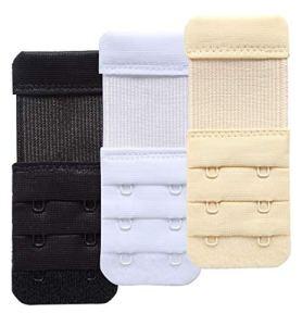 AKAAYUKO Extension de Soutien-Gorge 2 Crochet Confort Doux élastique Soutien-Gorge Strap Extension pour Les Femmes d'allaitement Maternité de Grossesse