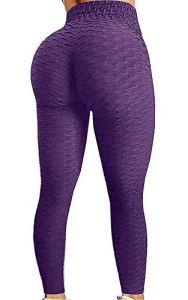 Awoscut Legging texturé taille haute pour femme – Pour le yoga – Effet gainant – Sans coutures – – S
