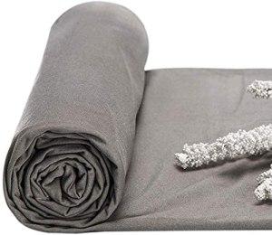 CEXTT 100% Silver Fibre Blindage Tissu Anti-4G Radiation Blocage pour Rideau, Costumes de radioprotection, sous-vêtements (Taille: 1,5 * 8m)