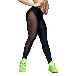 CPNG Pantalon de yoga pour femme – Nettogarn – Coutures élastiques – Pantalon de yoga pour la course à pied – – Taille M