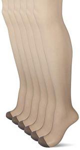 Dim Collant Voile Mes Essentiels 4+2, 15 DEN, Gris (Poivre 0ho), Large (Taille Fabricant:3) (Lot de 6) Femme