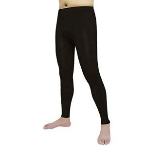 DONGBALA Variqueux Chaussettes pour Hommes, pour Les Hommes De Compression Pantyhose 30-40 mmHg Soutien Bas Diplômé pour Le Traitement Gonflement Varices Œdème Exécution des Infirmières,Noir,XL