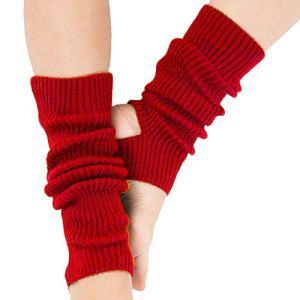 Ecroon Guêtres femme Danse Yoga Bas Guêtre Jambières Chausettes Hiver Chaud Tressé Tricot Fille Chaussettes chaudes d'hiver