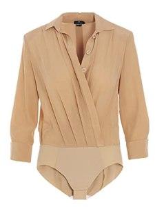 Elisabetta Franchi Mode De Luxe Femme CB01511E2320 Beige Autres Matériaux Body   Ss21