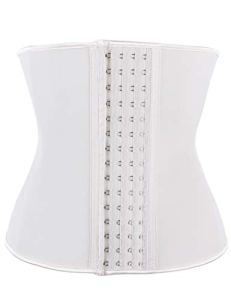 FeelinGirl Corset Minceur pour Femme Latex Serres-taille Ventre Plat Invisible Gaine Amincissante Ceinture Formateur de Taille 4 Crochets Acier Plates Grande Taille Beige M