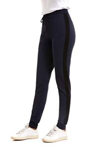 GOLDPKF Survêtement Bottoms Jogging Pantalon de jogging pour femme grande taille avec poches – Bleu – W44