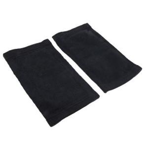 Joints de genou manches épaisses hiver cache-jambe chaud thermique gris noir ML – noir M
