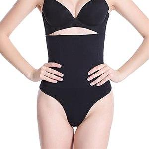 Linyuex Femmes High Taille Culotte Culotte Body Shaper Tummy Courroie de contrôle sous-vêtements Shapewear Belly Thong Culotte (Color : Black, Size : 3XL)