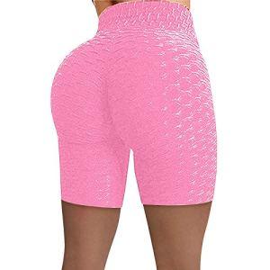 luck-peng Pantalons Femme Pantalons pour Dames Pantalon de Yoga Leggings Femme Sport Pantalon de Yoga Taille Haute Rose L