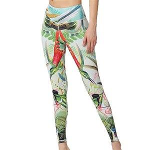PRJN Pantalons de Yoga imprimés pour Femmes Collants d'entraînement Sportif Collants Extensibles Pantalons pour Femmes Pantalons de Yoga pour Femmes Taille Haute Abdomen Exercice Collants