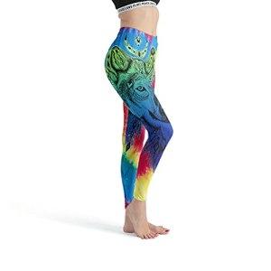 superyu Leggings de yoga à séchage rapide pour fille – Bleu loup XXXXL blanc
