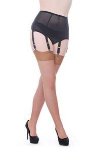 Vicky's Nylons – Bas pour porte-jarretelles – Femme beige Suntan – beige – Taille S