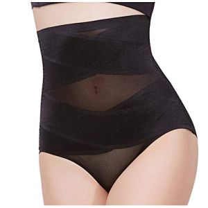 WOYAOFEI Beauty Slim Cross Cover Cellulite Fork Shaping Pant Cross Compression ABS Shaping Pants Stretch Basic Body suit Femmes Shaper Control Slim Body Shapewear Corset Taille Haute – Noir – L