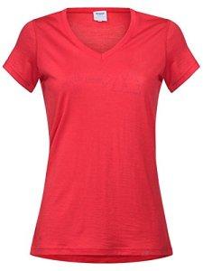 Bergans Exit T-shirt technique en laine pour femme – Rouge – XS