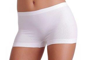 Gatta Viki Lot de 3shortys sans coutures – Blanc – Small