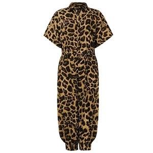 GFDFD Combinaison Femmes Plus Taille Imprimer Slim Bouton Long Bouton Rompers à Manches Courtes Jumpsuits Body Rompers (Color : Yellow, Size : XLcode)