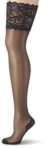GLAMORY Couture 20, Bas Autofixants Femme, 20 DEN, Noir, Large (44-46)