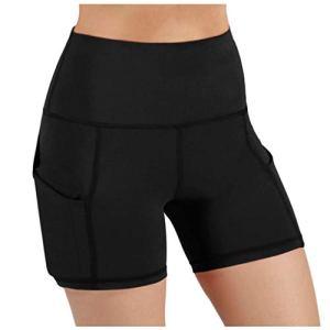 Leggings de fitness taille haute pour femme – Couleur unie – Pour le sport, le yoga, la course à pied, la gym, le contrôle du ventre – Avec poches M Noir 21