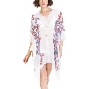 MELIFLUOS DESIGNED IN SPAIN Couvertures pour maillots de bain Femme Summer Sunburn Protection Beach Wear Maillot de bain (CB07-1)