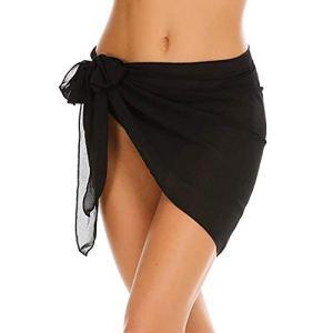 palatable Plage Bikini Combinaison Dentelle Wrap translucide Mousseline de Soie Soyeux et Doux Facile à Nouer Simple et élégant Femmes Robe Sarong