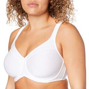 Triumph Modern Soft+Cotton W01 Soutien-Gorge Minimiseur, Blanc (White 0003), 110F Femme