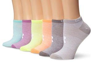 Under Armour Ua Solid No Show Lot de 6 paires de chaussettes pour femme – – Small