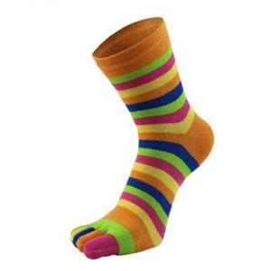 XJJZS 6 Paires de Chaussettes pour Femmes Automne et Hiver drôle drôle Mignon -en-Ciel Couleur imprimé Chaussettes de Coton (Color : F)